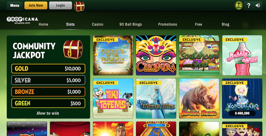 Tropicana NJ Casino Software