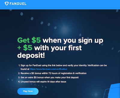Get $5 Free at Fanduel Fantasy Sports
